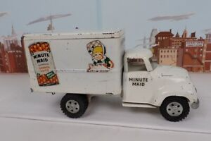 Vintage 1955 No.725 Minute Maid Tonka Delivery Truck With Wood Floor