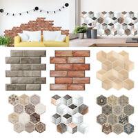 3D Tile Brick Wall Sticker Self-adhesive Panel Bumper Stick Home Wall DIY Decor