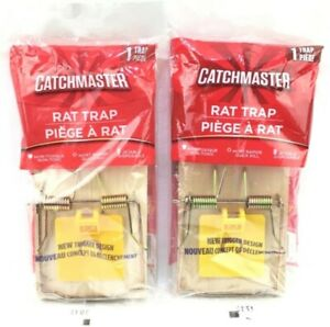 Rat Trap By Catchmaster Lot of 2 New Trigger Design Non Toxic Quick Kill Sealed