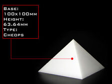 Orgonite Casting Giza Pyramid Mold, 100 X 100mm Base,  Self-Lubricating HDPE