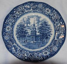 Liberty Blue Dinnerware Independence Hall Dinner Plate - Staffordshire - England