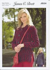 Flutterby Super Chunky Knitting Pattern for Cardigan Sweater James C Brett JB334