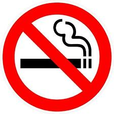 """#3046 (1) 3.75"""" No Smoking Allowed Safety Decal Sticker Laminated Outdoor"""