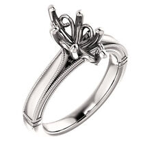 Semi Mount Setting Cathedral White Gold Marquise Engagement Solitaire Mounting