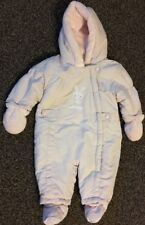 Baby Girl Pink Snowsuit, Age 3-6 Months, Mothercare