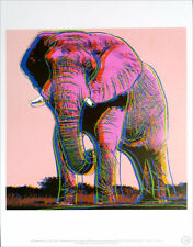 ANDY WARHOL African Elephant Official Authorized Litho Print 1989