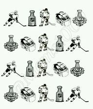Hockey nail Decals! Stanley Cup nail decals (water Decals)