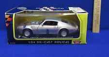 Motor Max 1973 Pontiac Firebird Trans Am Silver 1:24 Scale Model 73200 In Box