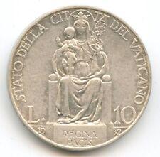 Vatican Pie XI 10 Lire argent 1932 An XI KM 8