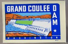 early Lindgren GRAND COULEE DAM water slide travel decal luggage car rat rod MIP