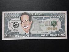 Jerry Seinfeld $1 milioni di dollari nota Novità BILL $1,000,000 un attore comico