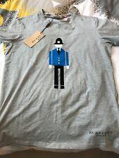 New Authentic Burberry London Men Written Logo Bottom Men Tshirt Gray L / M $195