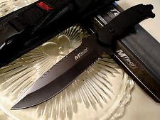 "Mtech Black Combat Fighter Bowie Knife 4mm Full Tang MOLLE Sheath MT-20-55BK 11"""