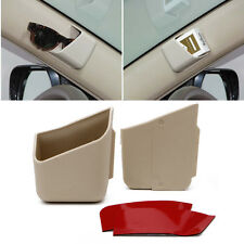 2Pcs Universal Car Auto Accessories Glasses Organizer Storage Box Holder Beige