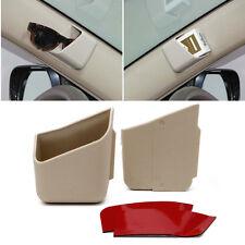 2Pcs Universal Car Auto Accessories Glasses Organizer Storage Box Holder Beige