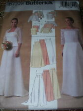 BUTTERICK #B4228 - LADIES BRIDAL SHRUG - TWO STYLE TOP & SKIRT PATTERN  6-10  FF