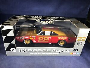 M3-10 BOBBY ALLISON #22 1969 CHARGER 500 - AUTOGRAPHED BY BOBBY & DONNY ALLISON