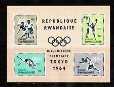 WORLDWIDE  OLYMPICS  1964  RWANDAISE   SOUVENIR LIST, LOT  # 21 B