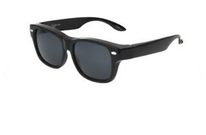 Foster Grant Sunglasses New Polarized Solar Shield Wear Over Eyeglasses Black