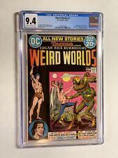 Weird Worlds 1 cgc 9.4 ow/w pages 009 dc comics john carter