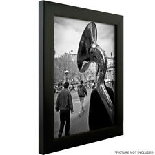 "Craig Frames 16x24 Poster Frame, 1"" Modern Satin Black w/ Clear Cover & Backing"