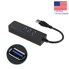 USB 3.0 Gigabit Ethernet Lan RJ45 Network Adapter 3 Port Hub to 1000Mbps Mac PC