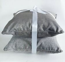 Lux Kroehler Gray Grey Animal Print Accent Throw Pillow Set For Sofa Couch