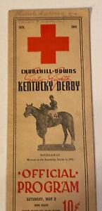 1942 Churchill Downs Official Kentucky Derby Horse Race Program