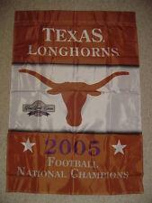 Texas Longhorns Football 2005 ROSE BOWL National Championship Flag New FREE SHIP