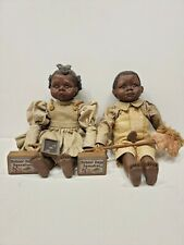 Vtg Sarah's Attic Granny's Favorites Hickory & Sassafras African American Dolls