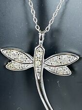 Danecraft Dragonfly Pendant Sterling Silver Cz