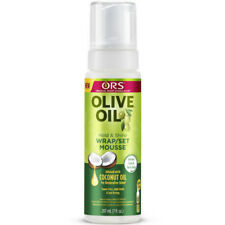 ORS Olive Oil Hold & Shine Wrap/Set Mousse w/ Coconut Define Curl Tame Frizz 7oz