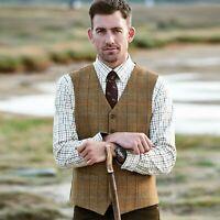 """Samuel Windsor Mens 100% Wool Tweed Waistcoat Winter Smart Wear Sizes 38-50"""" NEW"""