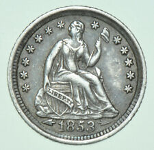 More details for usa, liberty seated silver half dime, arrows at date, 1853 new orleans mint coin