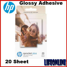 "HP ZINK Sticky-back 20 Sheet 2.3x3.4"" Glossy Adhesive Photo Paper Sprocket Plus"