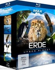 BLU RAY - SEEN ON IMAX - EARTH - OUR PLANET - 5 DISC EDITION - NEW/OVP