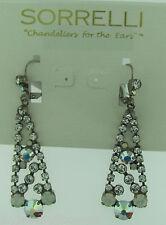 Sorrelli White Bridal Earrings ECN10ASWBR Antique silver tone