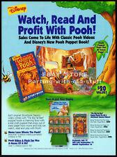 WINNIE THE POOH / Puppet Book__Original 1994 Trade AD movie promo__Walt Disney