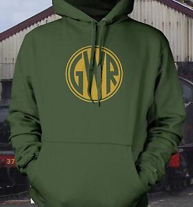 GWR button logo live steam trains model railways hoody
