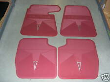 1964-65 GTO/LEMANS/TEMPEST RED ACCESSORY FLOOR MAT SET