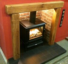 SOLID OAK BEAM SURROUND - INGLENOOK FIREPLACE - CHOICE OF FINISHES - STOVES.