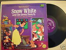 SNOW WHITE & SEVEN DWARFS Disneyland Records LP 1969