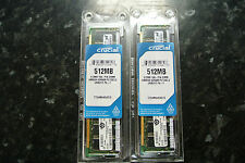 Crucial 1GB Kit  DDR2 PC2 5300 200 pin ram New