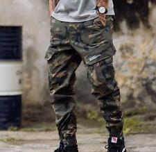 Mens Jogger Skinny Pants Cargo Overalls Harem Military Trouser Tapered Casual sz