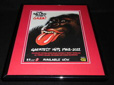 Rolling Stones 2012 Greatest Hits Framed 11x14 ORIGINAL Vintage Advertisement