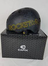 Capix Snow Wake Skate Helmet Large Xl Rockstar Suppressor Black Matte New In Box