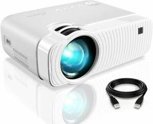 Elephas 3800 Lumen 1080p Tragbare Projektor für Heimkino-Weiß