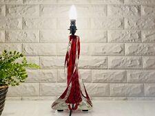 Mid Century Val St Lambert Crystal Table Lamp Vintage MCM Retro
