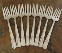 Oneida Grenoble 8 Salad Forks Heirloom Vintage Silverplate Flatware Lot C