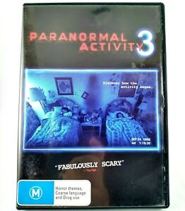 Paranormal Activity 3 DVD Region 4 PAL Approx. 81 Min Rated M 16:9
